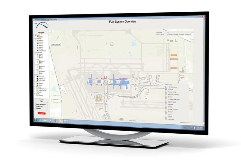 monitor with SCADA screen photo
