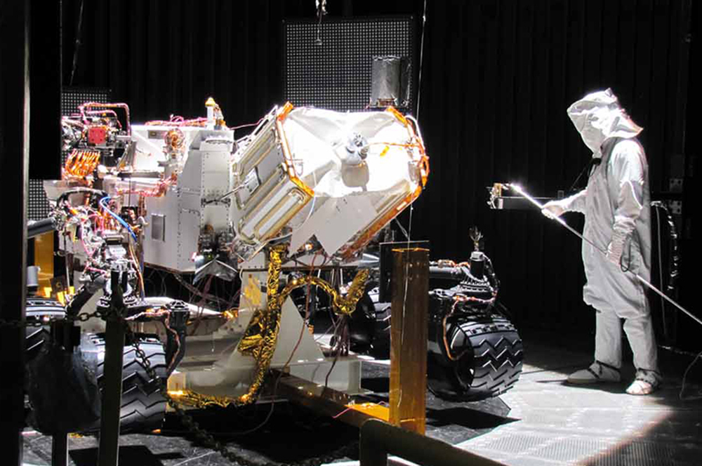 MSL Curiosity Flight Rover in testing chamber photo