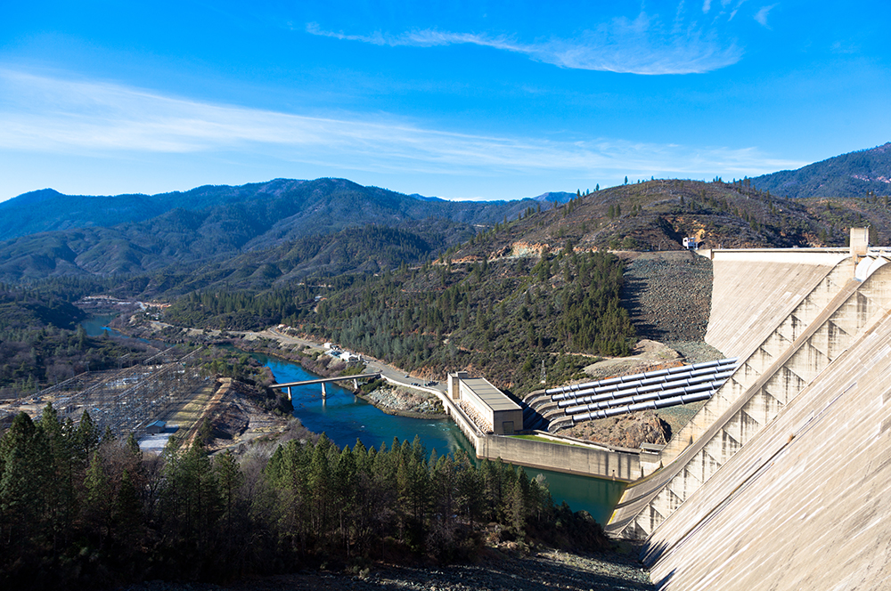 Shasta Dam Hydro-electric power