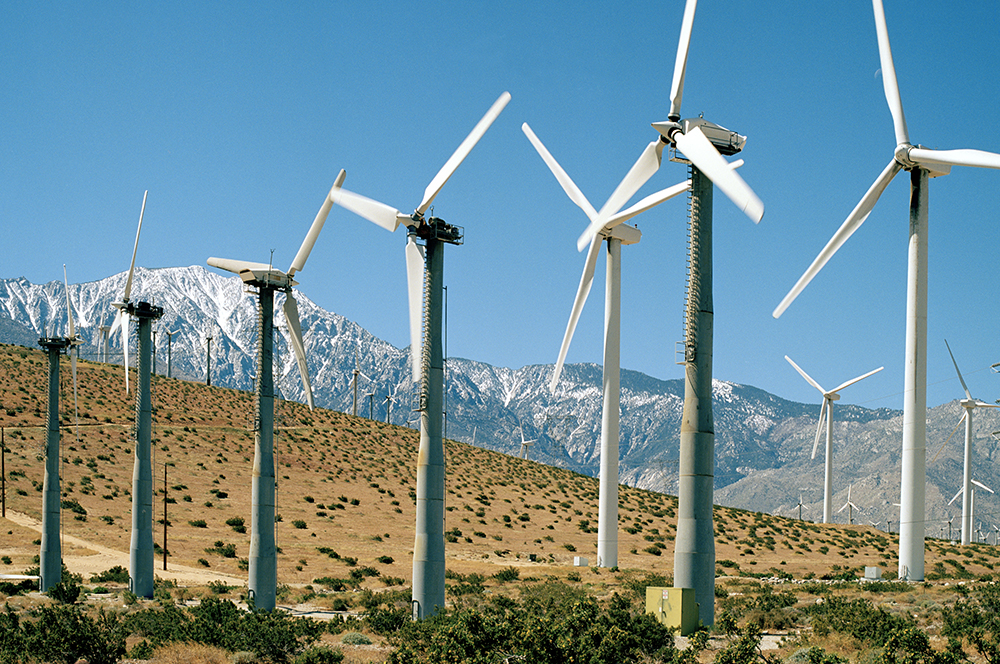 Wind turbines in Coachella Valley