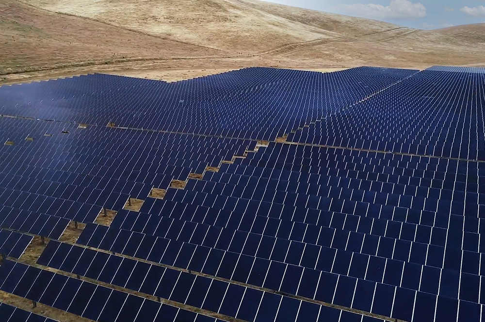 solar field in California desert