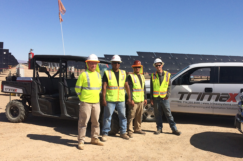 Trimax solar field service team