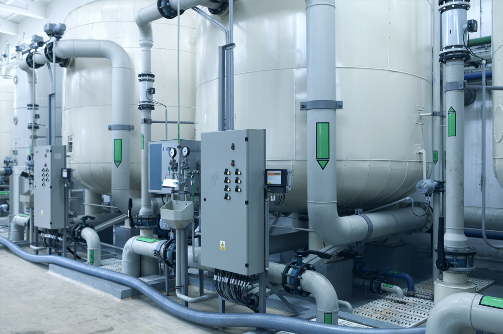 Water treatment pipes and instrumentation