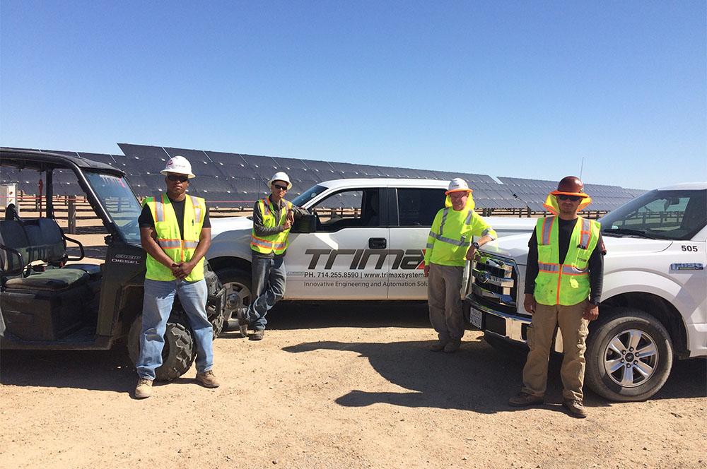 Trimax solar field service team